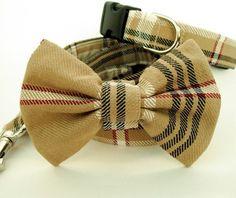 Burberry dog bow tie for Bennett