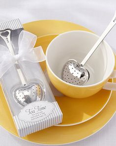 Infuse your love to your guests with this Tea Time Heart Tea Infuser! This heart shaped tea infuser is a lovely wedding favor to your guests.