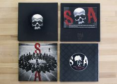 Sons of Anarchy Season 5 Press Kit #sonsofanarchy #SOA #FXNetworks #typography #lettering #handdrawn #design #diecut #emboss #blkmoonco #bmc