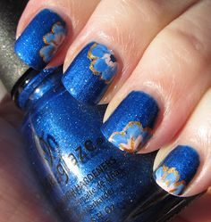 Blue Sapphire flowers - Artsy Wednesday/Thuesday