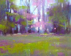 Monday Pastel Demo...Spring Landscape - Original Fine Art for Sale - © Karen Margulis