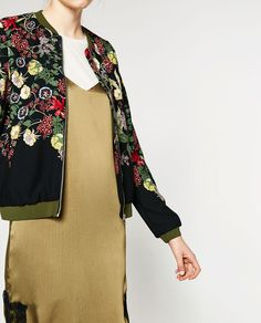 Image 2 of FLORAL PRINT BOMBER JACKET from Zara
