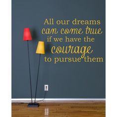 Wall Decal Inspirational Motivational All our dreams by luxeloft