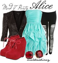 """""""Mad T Party - Alice"""" by meldoesdisney ❤ liked on Polyvore"""