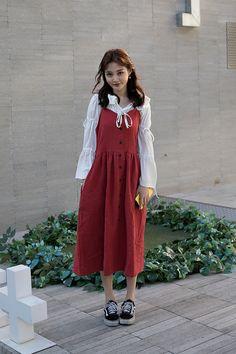 Wang Seulki, Street Fashion 2017 in Seoul