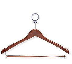 Honey-Can-Do Set of 24 Deluxe Cherry Wood Finish Suit Hangers