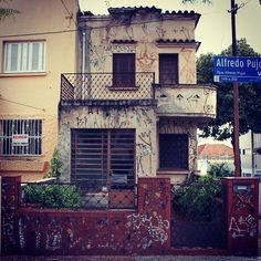 Old house at Alfredo Pujol street (Santana district)  Sao Paulo / Brazil