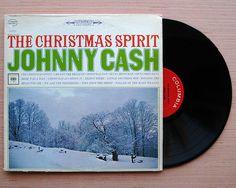 "Johnny Cash ""The Christmas Spirit"" Vinyl Record LP Original 1963 Christmas Album by The Man In Black"