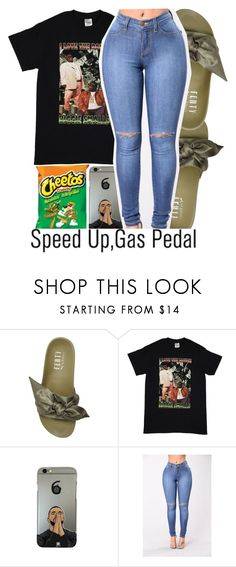 """Gas Pedal x Sage the Gemini"" by chynelledreamz ❤ liked on Polyvore featuring Puma and AG Adriano Goldschmied"