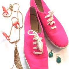 Hot Pink Keds Classic Keds in hot pink. Great condition. Size 8.5 keds Shoes Flats & Loafers