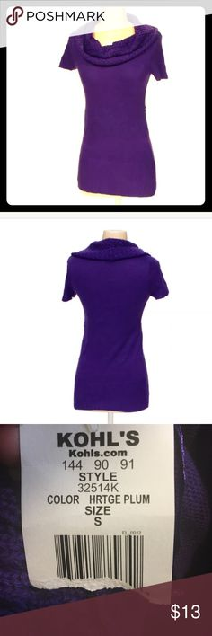 MAKE AN OFFER‼️ NEW Purple Tunic/Sweater S Tunic Item Details Condition Brand New SizeS TypeTunic SeasonSpring - Summer,Fall - Winter ColorPurple MaterialAcrylic Swapdotcom CategoryWomen's Apparel > Blouses & Shirts T/O Sweaters Cowl & Turtlenecks
