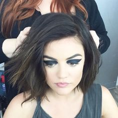Image via We Heart It #angel #black #dark #eyes #flawless #green #greeneyes #icon #liar #little #lucian #makeup #makeup #nice #perfect #pretty #tvshow #lucyhale #pll #ariamontgomery #sobeauty #a