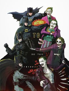 "Batman vs Joker ""Destined To Do This Forever"" Nightwing, Batgirl, Batman Et Catwoman, Gotham Batman, Joker Art, Batman Art, Joker And Harley, Harley Quinn, Spider Man Caricatura"