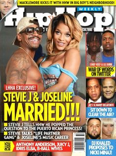 Love & Hip Hop Atlanta's newly married couple Stevie J and Joseline cover Hip Hop Weekly