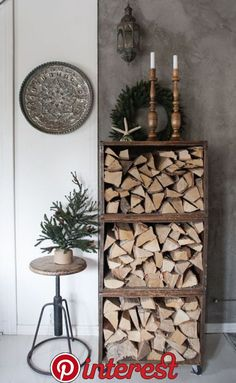 Jouluisia nurkkia   Jouluisia nurkkia Diy Garden Decor, Diy Home Decor, Firewood Storage, Cozy House, Home Projects, Home And Living, Ladder Decor, Home Accessories, Sweet Home