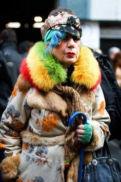 The ever-colorful Anna Piaggi
