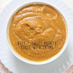 Beef + Sweet Potato Puree with Thyme