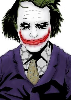 The Joker. Messing with colour and shading in #Photoshop
