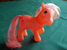 Vintage My Little Pony Sun Spot Sparkle Pony, G1 Orange Glitter with Pale Pink and Gold Hair by CactusWrenVintage on Etsy
