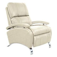 BarcaLounger  Oracle II Modern Leather Recliner 7-4160 Stargo Cream or Black