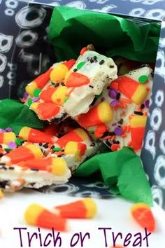 Halloween Candy Corn Bark