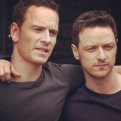 Michael Fassbender and James McAvoy <3