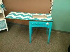 """Old sewing table made in to a """"oh sew crafty bar""""!!!"""