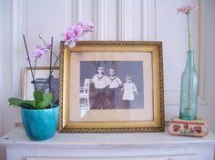 Vintage Bilder - Schönes altes Bild mit tollem Rahmen - ein Designerstück von birdybranch bei DaWanda