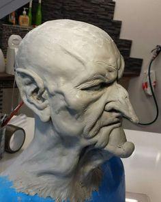Sculpting for Prosthetic mask Special Effects Makeup Artist, Craft Art, Sfx Makeup, Tree Art, Halloween Fun, Sculpting, Latex, Horror