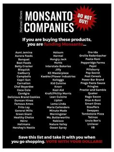 Toxic Food Here's a way that you can boycott Monsanto. Health And Nutrition, Health And Wellness, Health Tips, Muscle Nutrition, Health Facts, Toxic Foods, Healthy Work Snacks, Healthy Fruits, Healthy Recipes