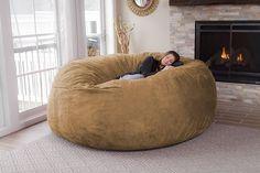 """De nuestros modelos más vendidos """"TOOT"""". Perfecto y cómodo para cualquier espacio. Huge Bean Bag, Extra Large Bean Bag, Bean Bag Lounger, Bean Bag Sofa, Peach Rug, Classic Bean Bags, Wooden Dining Room Chairs, Big Sofas, Single Sofa"""