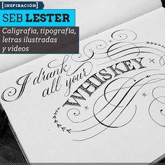 Caligrafía, tipografía y videos de SEB LESTER. Dibujo de letras, letras ilustradas y algunos procesos en video desde El Reino Unido.  Leer más: http://www.colectivobicicleta.com/2013/06/Caligrafia-de-SEB-LESTER.html#ixzz2VGwMLxHf