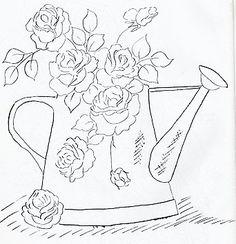 Pintura em tecido riscos   Estou postando esse lindos riscos florais , pois creio serem os preferidos das amigas , coloco também sugestão ...