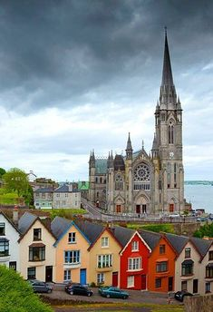 St Colman's Cathedral – Cobh, County Cork, Ireland. Cobh used to be called… Oh The Places You'll Go, Places To Travel, Travel Destinations, Ireland Destinations, Ireland Hotels, Vacation Travel, County Cork Ireland, Cobh Ireland, Ireland Map