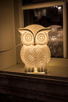 Lampe ugle H20cm