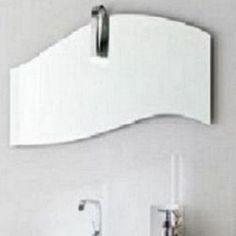 specchio e specchiera bagno onda con faretto arbi arredobagno