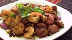 This herbed shrimp and red potatoes recipe was a great inspiration, since I tend to not really stick to recipes. Double thumbs up from the hubby and me!