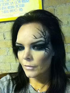 Annette Olzon from Nightwish stage makeup.