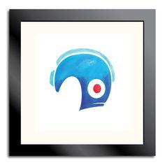 Love Mega Man? Then why not get this vibrant print of Mega Man's helmet :) - Helmet Prints. via Etsy.