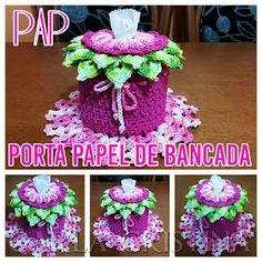 Carla Cristina & Crochet: Pap Porta Papel de Bancada