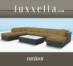 Luxxella Outdoor Patio Wicker MALLINA Sofa Sectional Furniture 9pc All Weather Couch Set