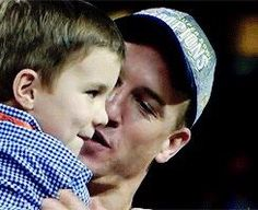 Marshall Manning, so adorable! Excited for his Dad, Peyton Manning!