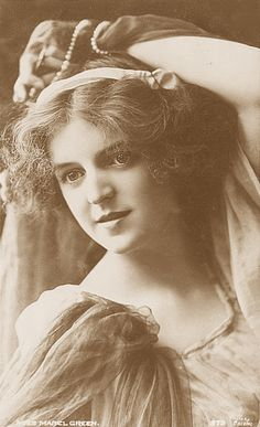 Mabel Green, Singer and Stage Actress (1890-?).  Born in England.