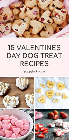 Looking for a fun way to treat your dog this Valentine's Day? One of my favorite ways is by making some homemade dog treats. From heart shaped dog cookies to homemade doggie ice cream, here's 15 Valentine's Day dog treat recipes. Dog Biscuit Recipes, Dog Treat Recipes, Dog Food Recipes, Homemade Dog Cookies, Homemade Dog Food, Diy Dog Treats, Healthy Dog Treats, Frozen Dog Treats, Valentine's Day Quotes