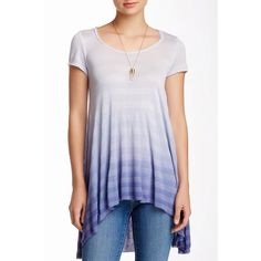 Blue Ombré Top / Tee High low tee with a beautiful blue ombré. Brand new without tags. True to size. No trades. Bare Anthology Tops
