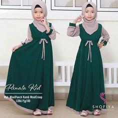 Girls Bridesmaid Dresses, Baby Girl Party Dresses, Girls Maxi Dresses, Little Dresses, Baby Dress, Diy Fashion Hats, Kids Fashion, Muslim Fashion, Hijab Fashion