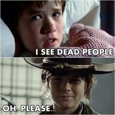"""Hilarious """"I see dead people"""" #TWD #funny"""
