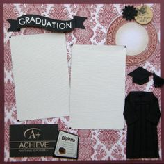 12x12 single page scrapbook layout Graduation by ntvimage on Etsy, $12.99