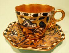 Antique Coalport Cabinet Cup & Saucer no. T2319....a/f.................ref. 5638