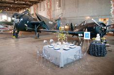 Retro Flight Wedding Inspiration love the ghost chairs